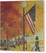 Ghost Of Lincoln Highway Wood Print