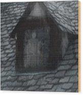 Ghost Rain Wood Print