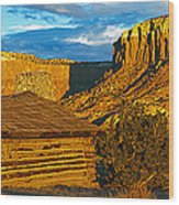 Ghost Ranch At Sunset, Abiquiu, New Wood Print