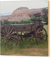 Ghost Ranch Wagon Wood Print
