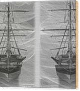 Ghost Ship - Gently Cross Your Eyes And Focus On The Middle Image Wood Print