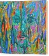 Ghost Tears Wood Print