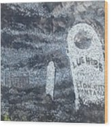 Ghost Town Boot Hill Wood Print