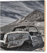 Ghost Town Junked Car Wood Print