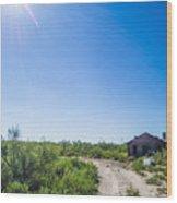 Ghost Town Texon Texas Wood Print