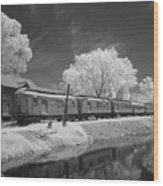 Ghost Town Train Wood Print