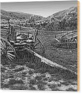 Ghost Wagons Of Bannack Montana Wood Print