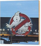 Ghostbusters In La Wood Print