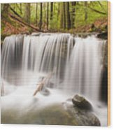 Ghostly Waterfall Wood Print