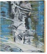 Ghostrider Reflection Wood Print
