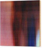 Ghosts In Burgundy Wood Print