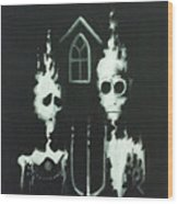 Ghosts Of American Gothic Wood Print