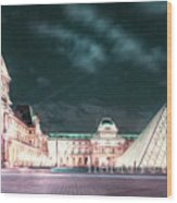 Ghosts Of The Louvre Museum 2  Art Wood Print