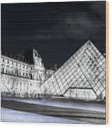 Ghosts Of The Louvre Museum  Art Wood Print