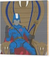 Gi Joe - Cobra Commander Wood Print