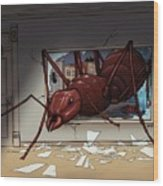 Giant Ant Wood Print
