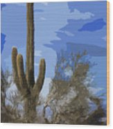 Giant Saguaro Wood Print
