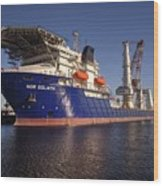 Giant Ship's Wood Print