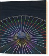 Giant Wheel Ferris Wheel Wood Print