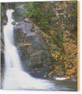 Gibbs Falls Presidential Range Wood Print