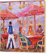 Gibbys Cafe Wood Print