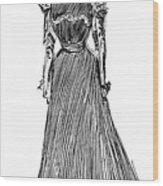 Gibson: A Gibson Girl Wood Print