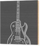 Gibson Es-175 Electric Guitar Tee Wood Print