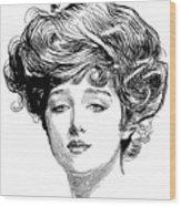 Gibson Girl, 1900 Wood Print