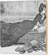 Gibson: Reader, 1900 Wood Print