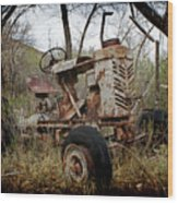 Gibson Tractor Wood Print