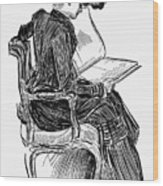 Gibson: Woman Reading Wood Print