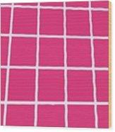 Griddy In Pink Wood Print