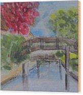 Giethoorn Bridges Wood Print