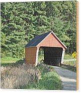 Gifford Covered Bridge  Wood Print