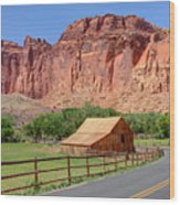 Gifford Homestead Barn - Capitol Reef National Park Wood Print