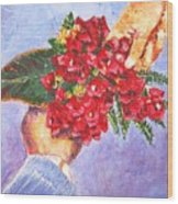 Gift A Bouquet - Bougenvillea Wood Print