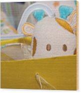 Gift Bag Peek-a-boo Wood Print