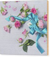 Gift And Flowers Wood Print