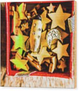Gift Boxes And Astronomy Toys Wood Print