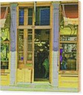 Gift Shop Windows Wood Print