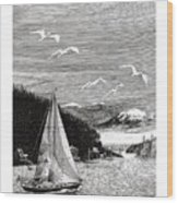 Gig Harbor Sailing School Wood Print