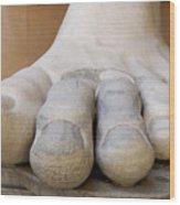 Gigantic Foot From The Statue Of Constantine. Rome. Italy. Wood Print by Bernard Jaubert