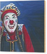 Giggles The Clown Wood Print
