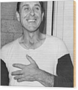 Gil Hodges Flashing Smile After Win Against Orioles. 1969 Wood Print