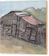 Gila New Mexico Cattle Barn Wood Print