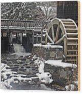 Gilbert Stuart Water Wheel Wood Print