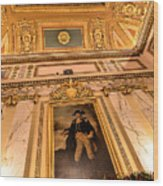 Gilded Ceiling Wood Print
