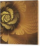 Gilded Flower Wood Print by John Edwards