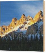 Gilded Ridge Wood Print