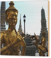 Gilded Statues Of Gods At The Grand Wood Print